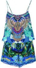 Camilla - tropical print playsuit - women - Silk - S - MULTICOLOUR