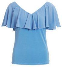 VILA Deep Back - Short Sleeved Top Women Blue