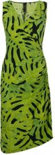 Norma Kamali - leaf print fitted dress - women - Polyester/Spandex/Elastane - S, M, L - GREEN