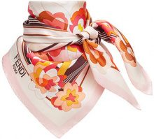 Fendi - floral square scarf - women - Silk - OS - PINK & PURPLE
