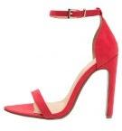 Sandali con i tacchi - tomato red