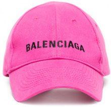 Balenciaga - Berretto con logo ricamato - women - Cotone - OS - PINK & PURPLE
