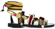 Mabu - Sandali con lacci alla caviglia - women - rubber/Cotone - 36, 38, 41, 40 - Nero