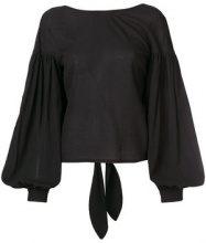 Wandering - sheer sleeves shirt - women - Cotton - 40 - BLACK