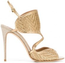 Salvatore Ferragamo - woven sandals - women - Leather - 6.5, 8, 7.5 - NUDE & NEUTRALS
