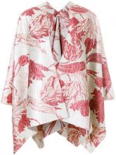 Ermanno Gallamini - Giacca oversized a mantella - women - Cotone/Polyester/Acrylic/Linen/Flax - OS - Rosso