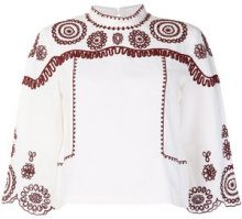 Mih Jeans - Edelson embroidered blouse - women - Cotton/Ramie - XS, S, M, L - WHITE