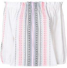 Lemlem - Blusa con spalle scoperte - women - Cotone/Acrylic - XS, S, M - Bianco