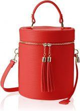 Chicca Borse 8638, Borsa a Spalla Donna, Rosso (Red), 20x24x20 cm (W x H x L)