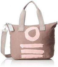 Oilily Fun Nylon Handbag Mhz - Borsa Donna, Beige (Taupe), 15x25x33 cm (B x H T)