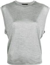 - Dsquared2 - cap sleeve vest - women - seta - XS - di colore grigio