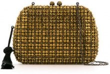Serpui - embellished Angel clutch - women - Polyester - OS - METALLIC