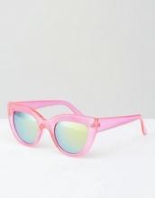 Jeepers Peepers - Occhiali da sole a occhi di gatto con montatura spessa rosa