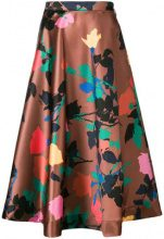 MSGM - floral skirt - women - Polyester - 40, 42, 44 - BROWN