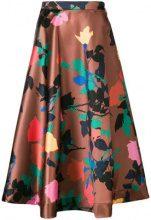 - MSGM - floral skirt - women - fibra sintetica - 38, 40, 42 - color marrone