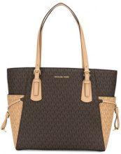 - Michael Michael Kors - Voyager shopping logo tote - women - fibra sintetica/PVC/cotone - Taglia Unica - color marrone