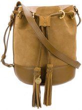 See By Chloé - Borsa a secchiello - women - Cotone/Calf Leather - OS - Marrone
