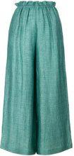Masscob - Pantaloni crop gamba ampia - women - Cotton/Linen/Flax/Polyamide - 34, 36, 38, 40 - GREEN