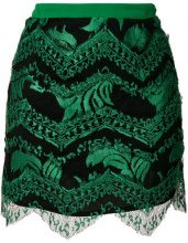 Just Cavalli - sequin embellished skirt - women - Polyester/Viscose - 36, 38, 40, 42, 46 - Verde