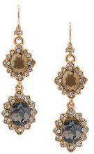 Marchesa Notte - Orecchini a pendente - women - Brass/Gold Plated Brass/glass - OS - BLUE