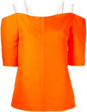 Maison Rabih Kayrouz - double strap top - women - Silk/Polyester - 36 - YELLOW & ORANGE