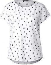 Cecil 311947, T-Shirt Donna, Weiß (White 30000), S