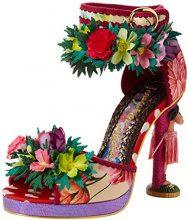 Irregular Choice Hono Lulu, Sandali con Cinturino alla Caviglia Donna, Rosa (Pink Multi B), 40 EU