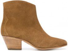 Isabel Marant - chunky heel boots - women - Leather/Suede - 37, 38, 39, 40, 41, 36 - BROWN