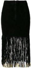 Giorgio Brato - Gonna con frange - women - Leather - 38, 40, 44 - BLACK
