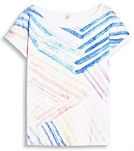 ESPRIT 057EE1K048, T-Shirt Donna, Mehrfarbig (Off White 110), 44 (Taglia Produttore: M)