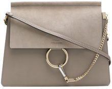 Chloé - Faye shoulder bag - women - Calf Leather/Calf Suede - One Size - GREY