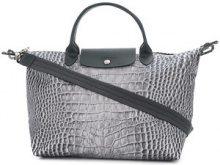 Longchamp - Le Pliage crocodile print tote - women - Nylon - OS - GREY
