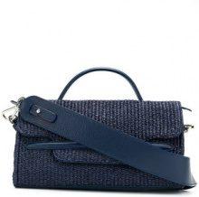 Zanellato - Borsa a mano - women - Raffia/Leather - One Size - BLUE