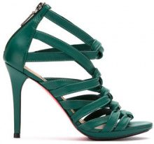 Zeferino - leather strappy sandals - women - Kid Leather - 33, 34, 35, 36, 37, 38, 39 - GREEN