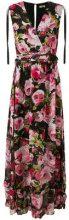 Liu Jo - floral print maxi dress - women - Polyester - 38, 40, 42, 44, 46 - Nero