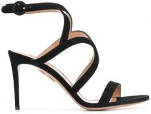 Aquazzura - Sandali 'Hill' - women - Goat Skin/Calf Leather/Leather - 36.5, 37, 38.5, 40, 36, 38, 39, 39.5, 37.5 - Nero