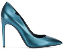 Pollini - pointed toe stiletto pumps - women - Leather - 36, 36.5, 37, 37.5, 38, 38.5, 39, 40 - BLUE
