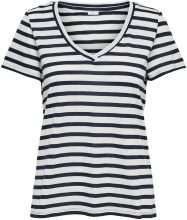 ONLY Striped Short Sleeved Top Women Blue