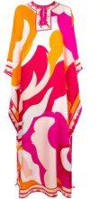 Emilio Pucci - Pop Flower maxi dress - women - Silk - OS - Giallo & arancio