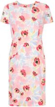 Chanel Vintage - floral shortsleeved dress - women - Silk - 40 - PINK & PURPLE