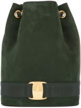 Salvatore Ferragamo Vintage - Vara backpack - women - Suede/Leather - OS - Verde