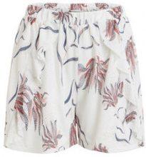 VILA Ruffle Shorts Women White