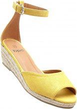 Sandalo con zeppa (Arancione) - bpc bonprix collection