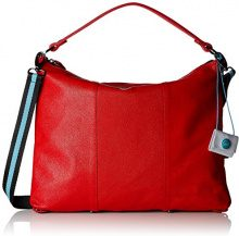 GABS Maggy Tg L Black - Monospalla Razza Borsa Donna, Rosso, 1x32x42 cm (B x H T)