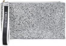 - Emilio Pucci - glittery wristlet pouch - women - fibra sintetica - Taglia Unica - effetto metallizzato