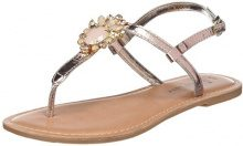 New Look Wide Fit-Fancy, Sandali con Chiusura a T Donna, Oro (Rose Gold 94), 40 EU