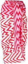 Tara Matthews - Murtoli zig-zag pareo scarf - women - Cashmere - OS - Rosa & viola