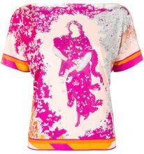 Emilio Pucci - floral print shortsleeved blouse - women - Silk/Viscose - 38, 40, 42, 44, 46, 48 - Multicolore