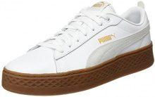 Puma Smash Platform L, Scarpe da Ginnastica Basse Donna, Bianco White White, 37.5 EU