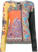 Etro - contrasting print top - women - Silk/Cashmere - 44, 46, 48, 40, 42, 50 - YELLOW & ORANGE
